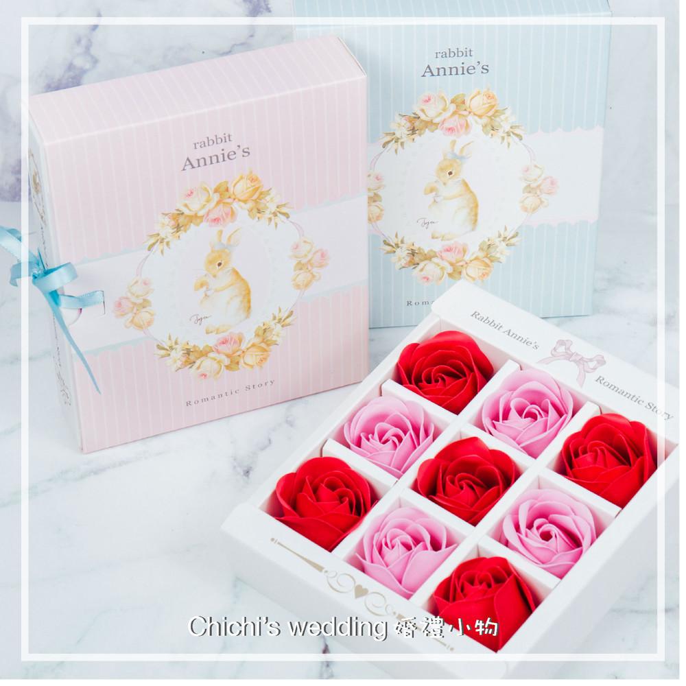 婚禮週邊-彼得兔玫瑰香水皂禮盒