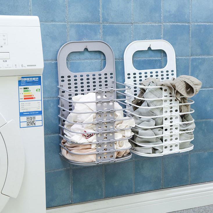 【生活收納】壁掛省空間-可折疊髒衣籃