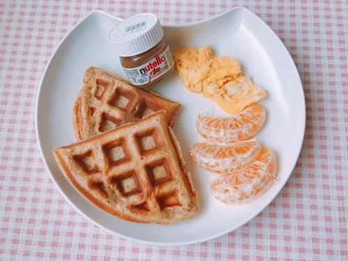 自製素食早餐鬆餅的成品
