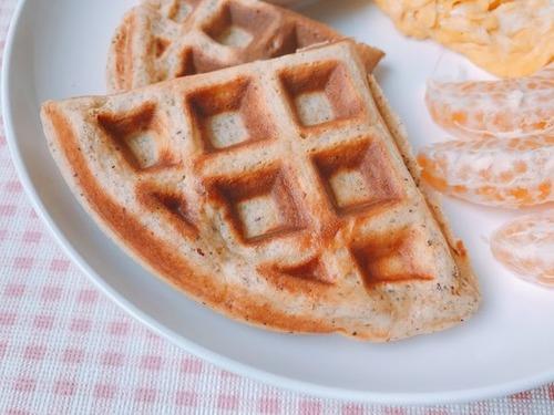 自製素食早餐鬆餅的成品近照
