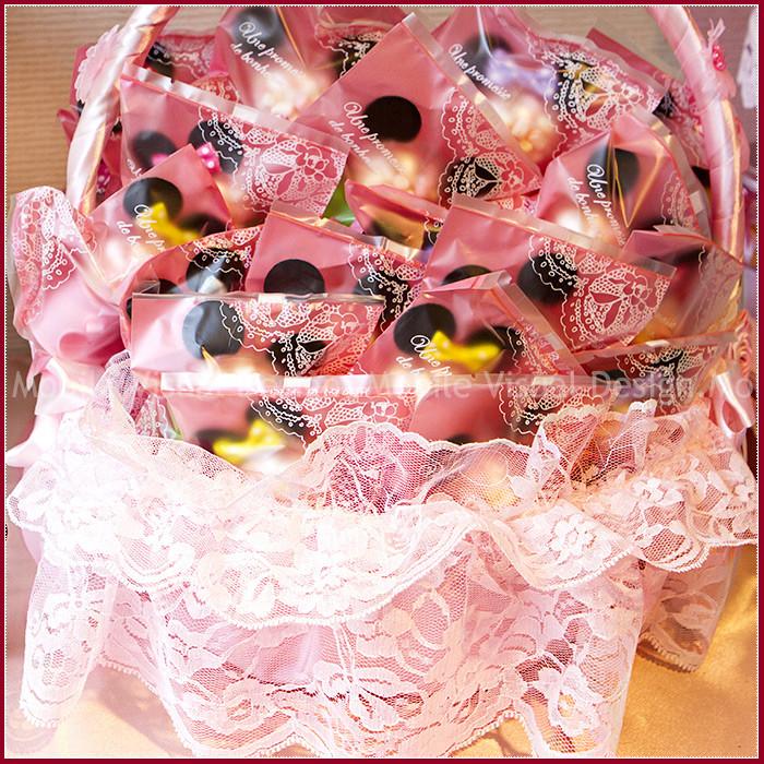 婚禮週邊-米奇米妮扭蛋機糖果(粉彩棉花糖)X 50份+大提籃X1個-★限宅配