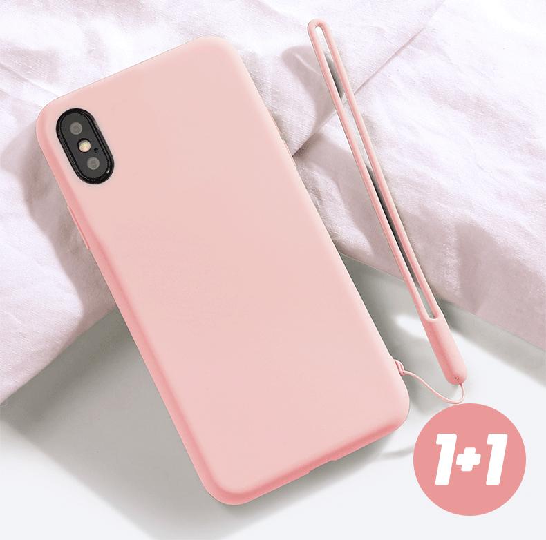 【強打促銷 1+1】Smilie裸砂特霧iPhone手機殼+同色掛繩 (共11色)