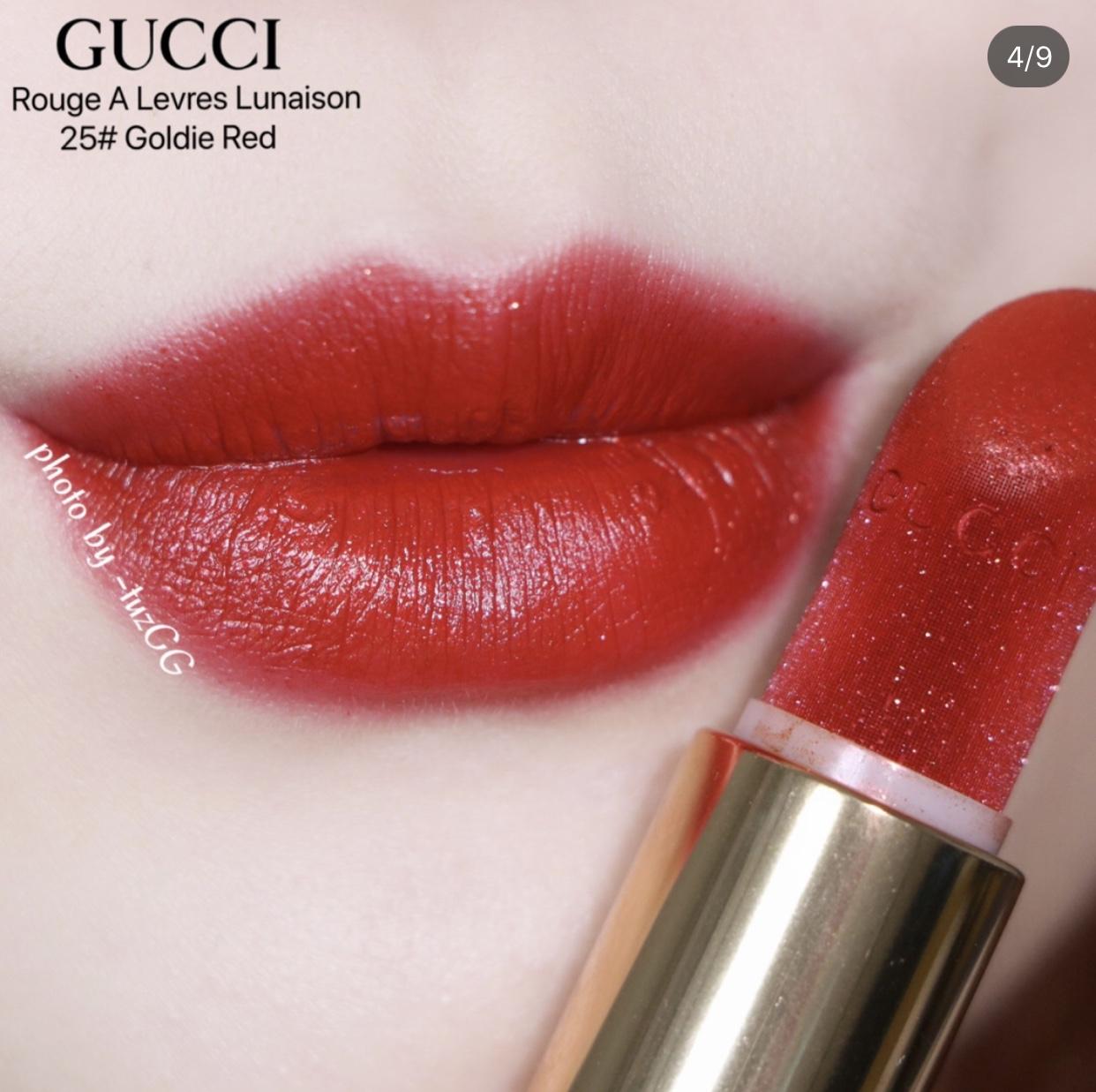 Kết quả hình ảnh cho Gucci Rouge à Lèvres Lunaison