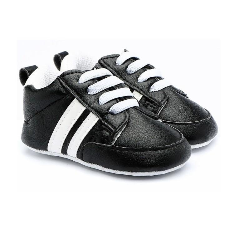 Baby Talk 寶寶學步鞋(鬆緊帶) 休閒款(黑色)