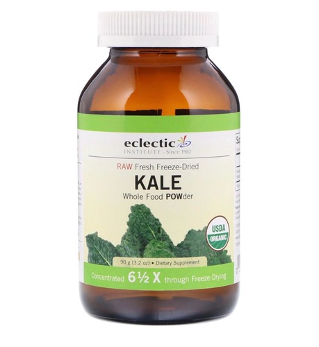 Eclectic Institute, Raw Fresh Freeze-Dried Kale Whole F