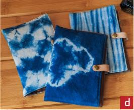 臺南市十大 創意商品特展-藍染系列 鋼筆筆袋/文具收納袋