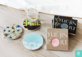 臺南市十大 創意商品特展-月津八景陶瓷吸水杯墊