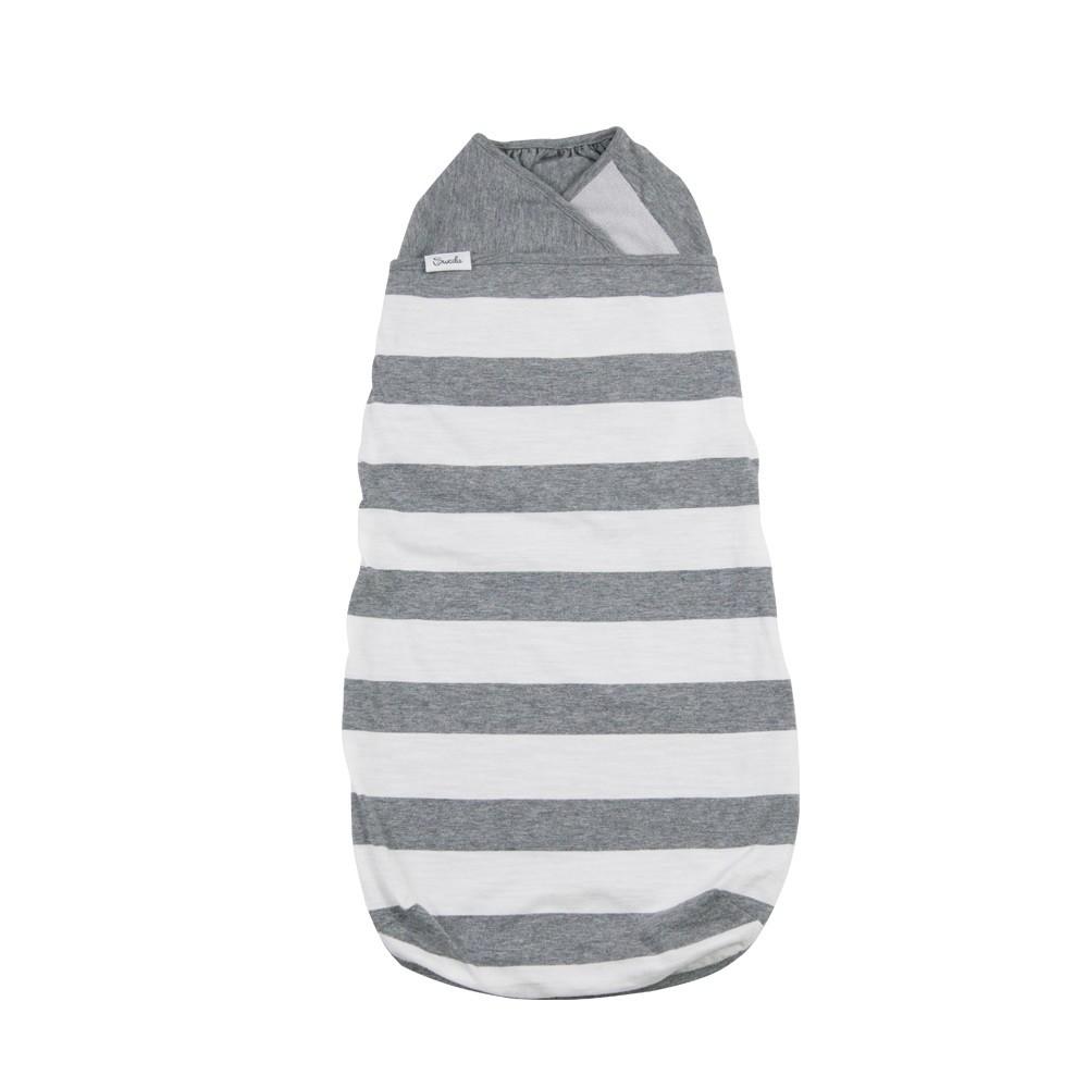 美國  Swado  全階段靜音好眠包巾 經典款- 灰白條紋 (S/M)