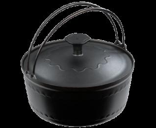 大古鐵器-鑄鐵內鍋(23cm/附鑄鐵鍋蓋)