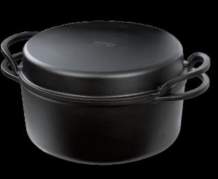 大古鐵器-鑄鐵雙耳湯鍋