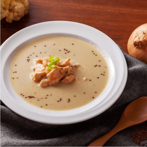 抗憂鬱食物:鮭魚紅藜白花菜濃湯