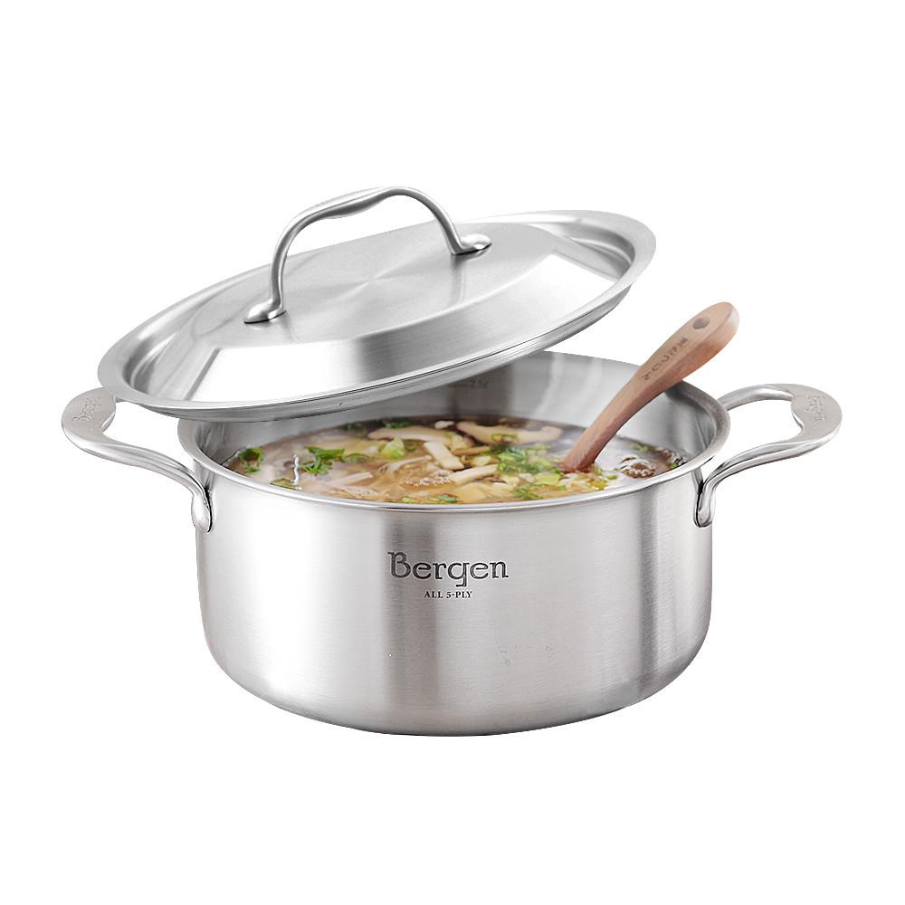 韓國Bergen 五層316不鏽鋼雙柄湯鍋 20cm