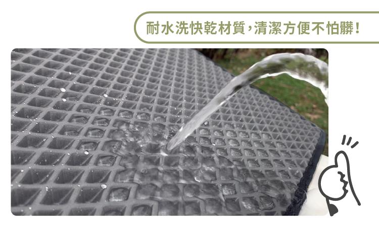 耐水洗快乾材質,清潔方便不怕髒!