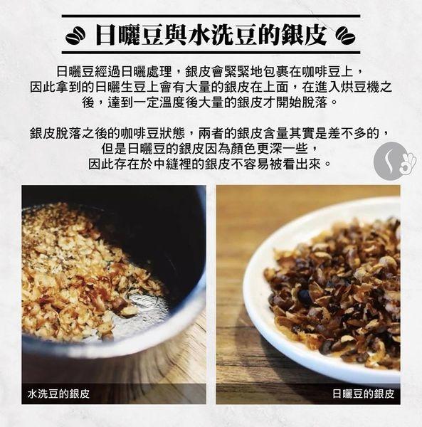日曬豆和水洗豆的銀皮 -2