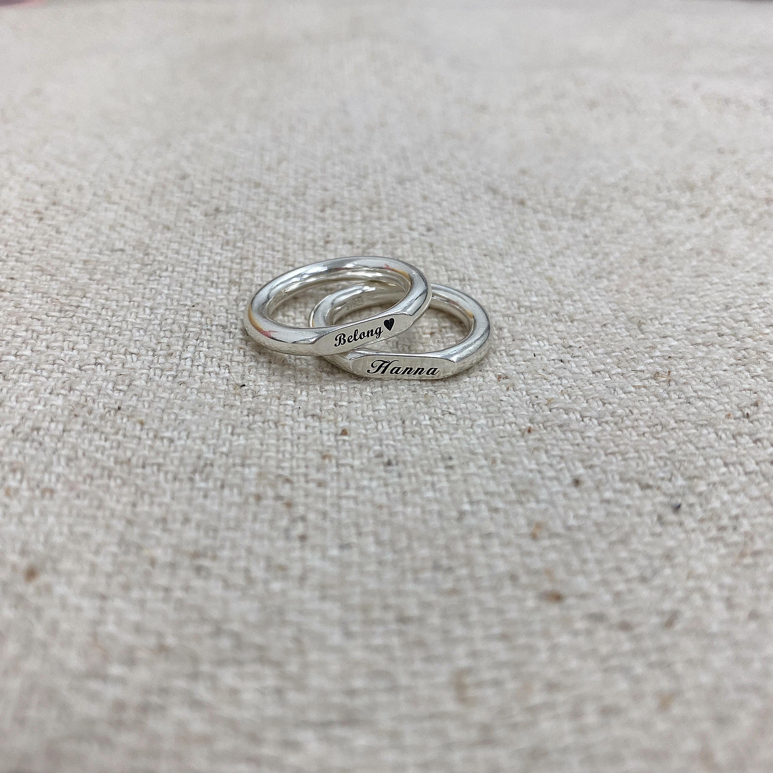 Futuro正韓・925 全純銀客製化平戒指