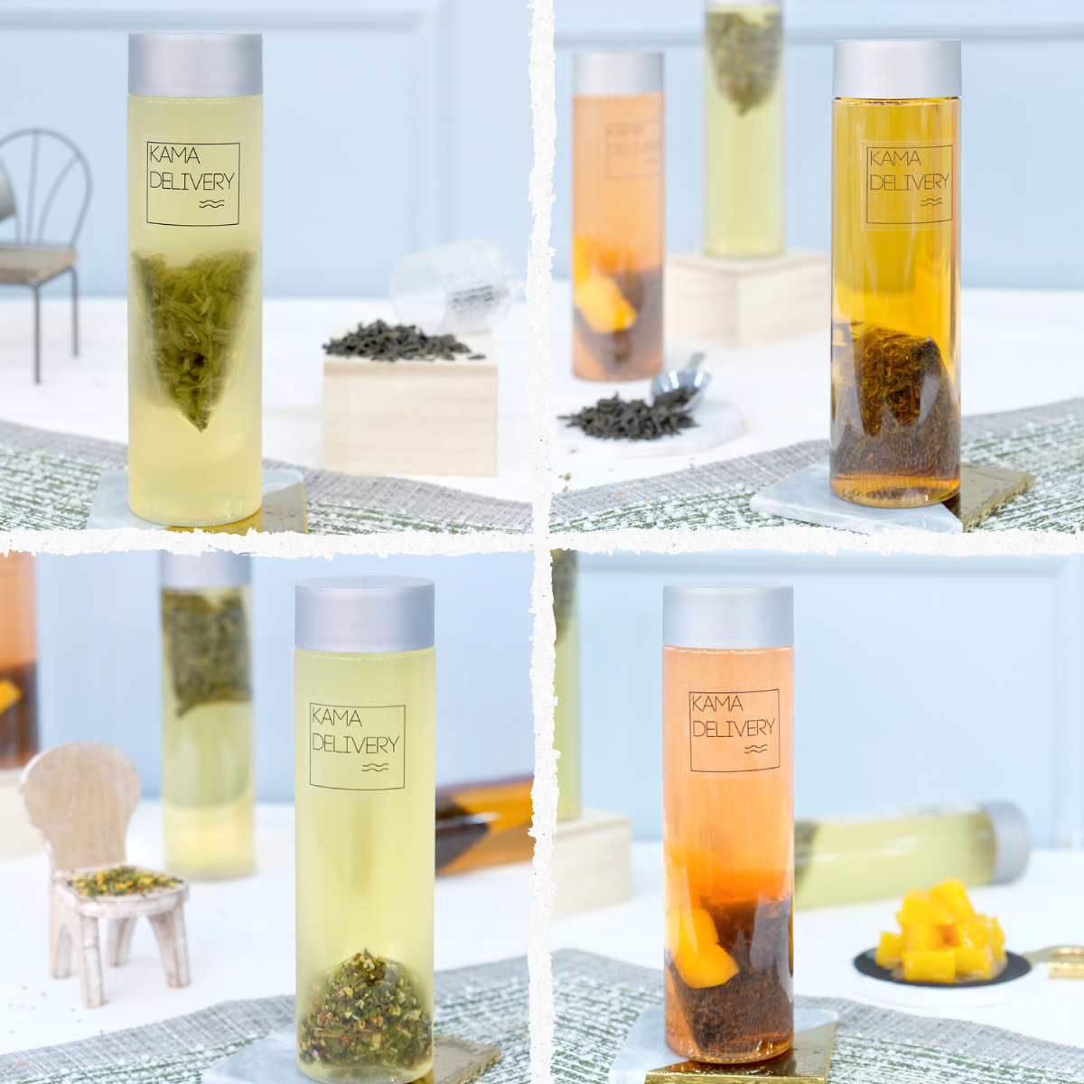 Kamadelivery推出的冷萃茶到會飲品系列