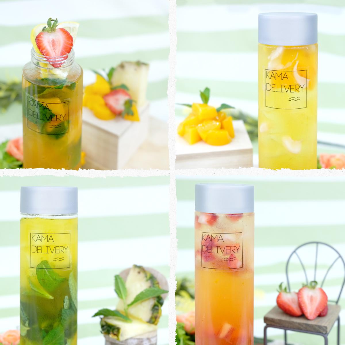 Kamadelivery推出的果茶到會飲品系列