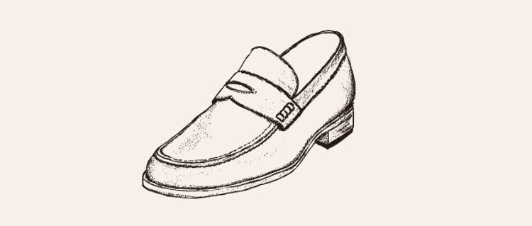 手繪樂福鞋背景空白