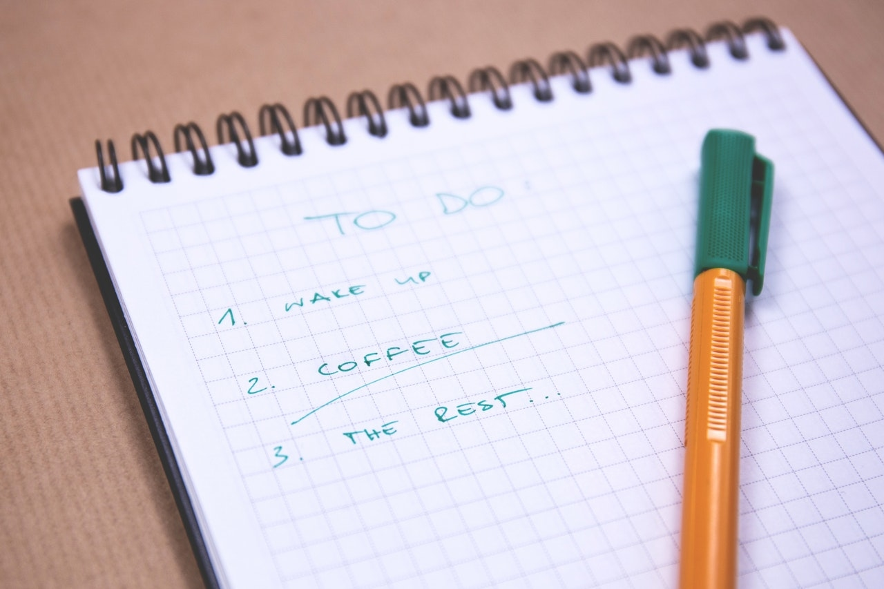 宅在家中可以製作一份 To-Do-List