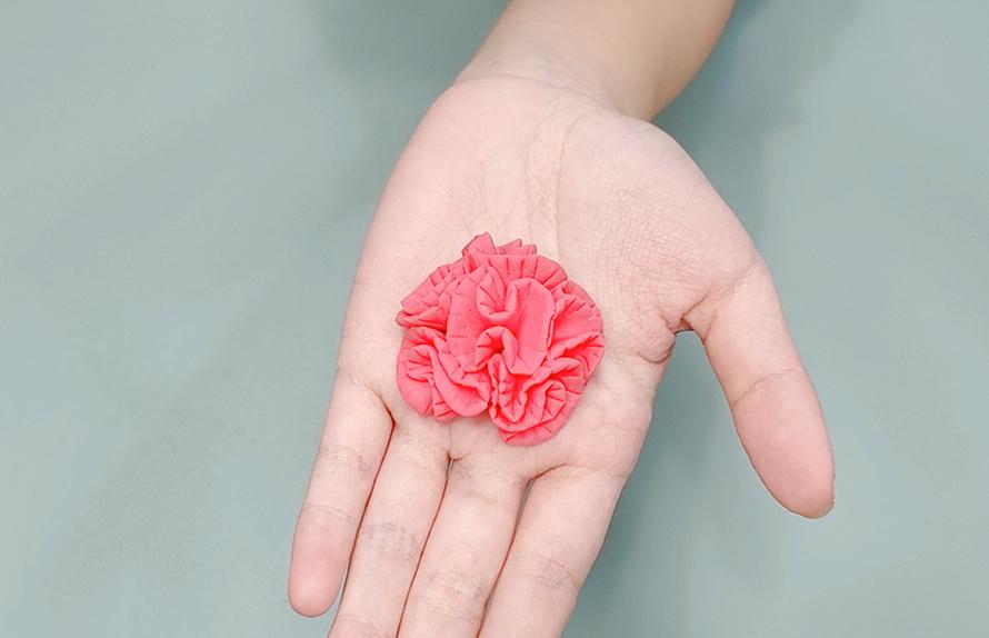 輕黏土康乃馨做法