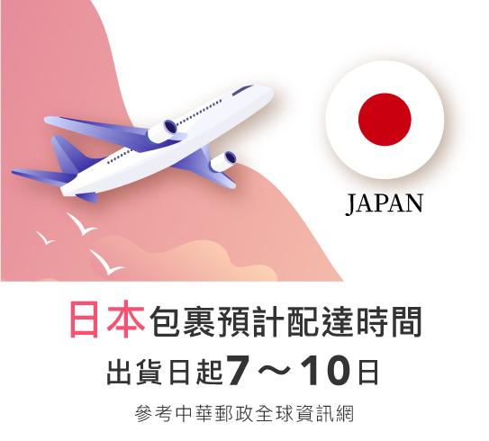 日本地區出貨時間
