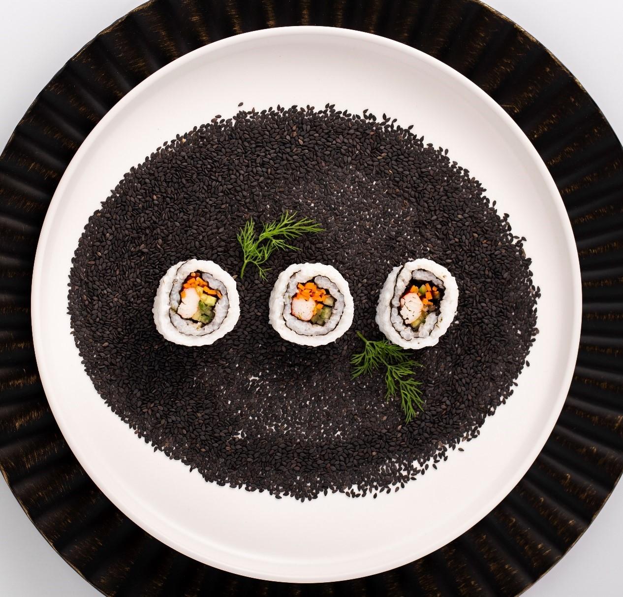 黑芝麻和壽司