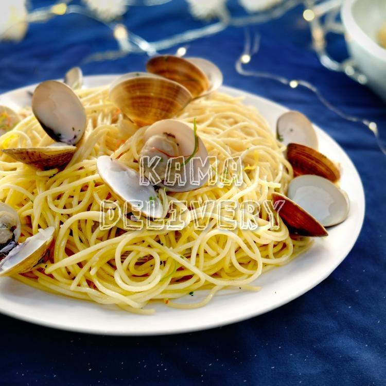 Kamadelivery的單點健康到會美食-香蒜大蜆炒意粉