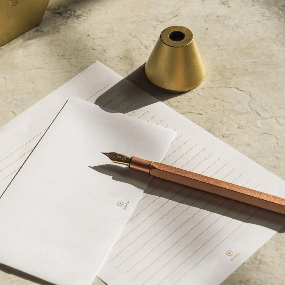 送長官禮物紅銅桌上鋼筆-經典系列