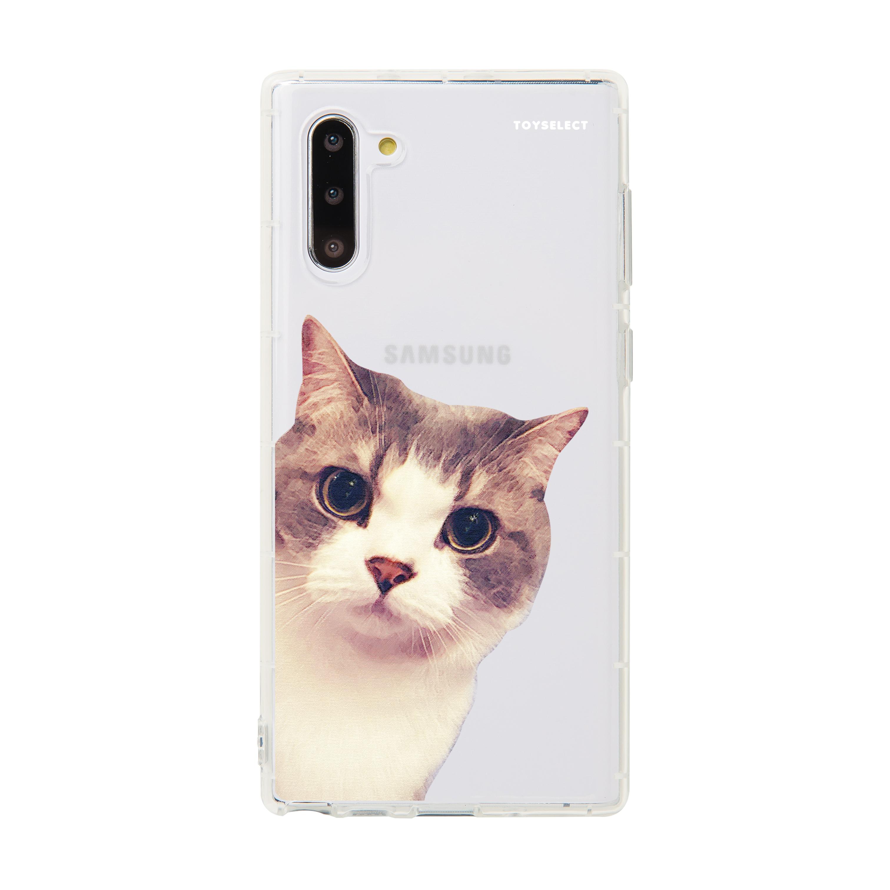 【獨家設計】萌貓偷偷看系列透明防摔Samsung手機殼