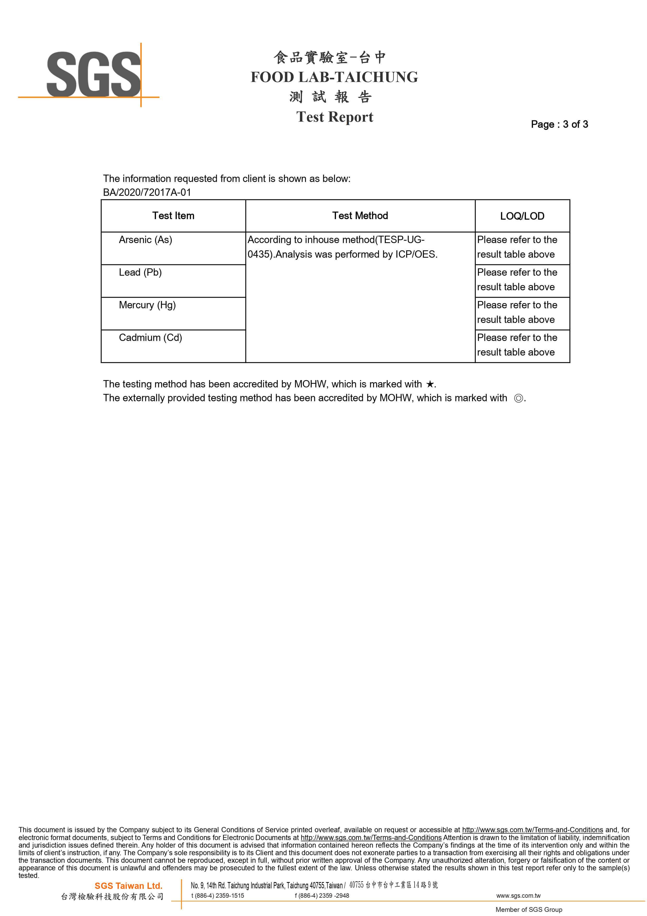 SGS Test Report No.1 p3-3