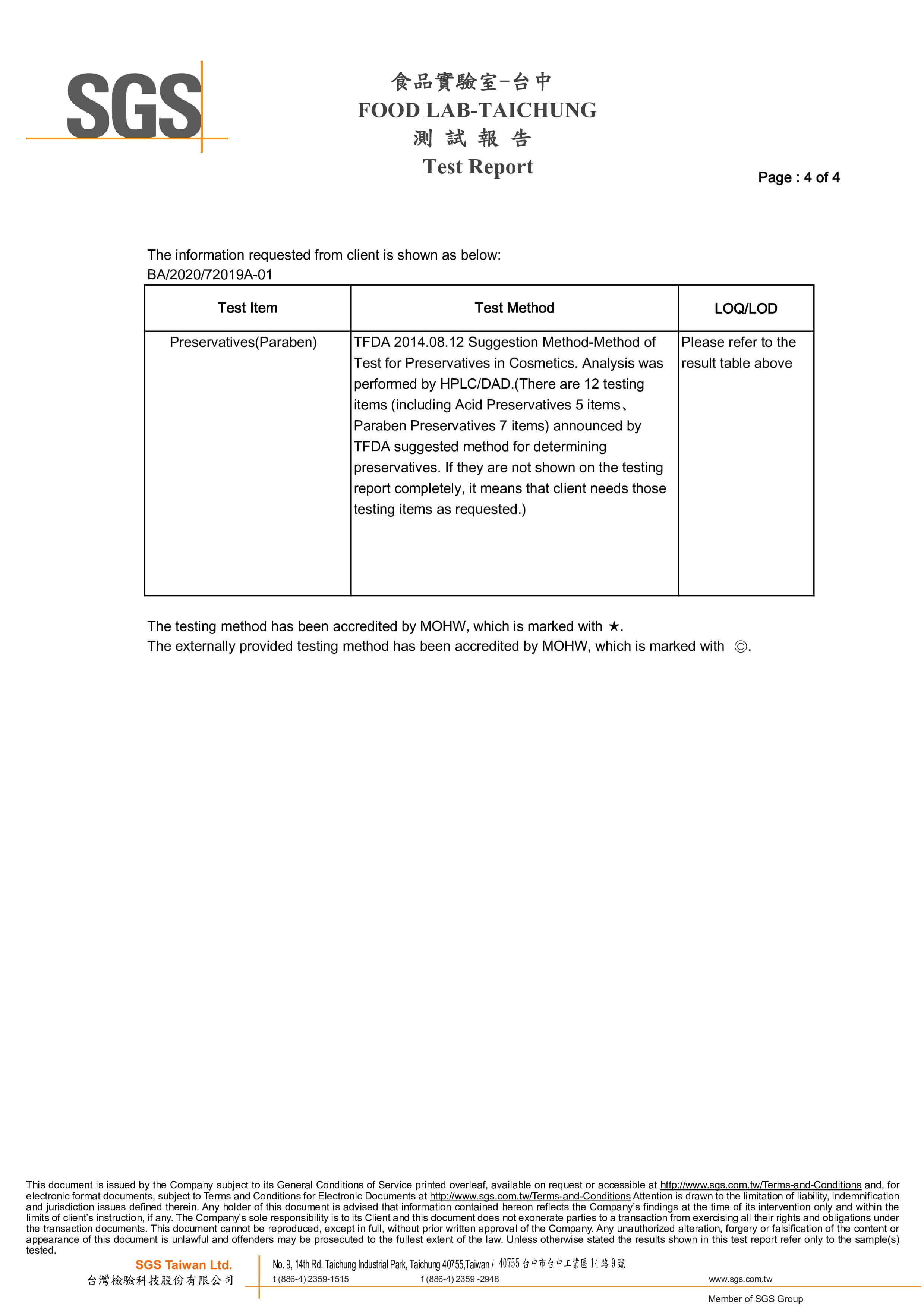 SGS Test Report No.3 p4-4