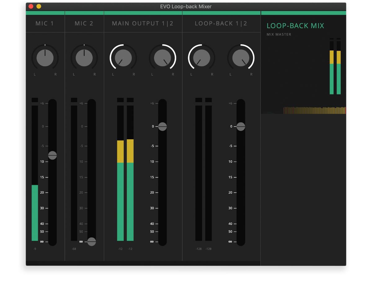 在AUDIENT EVO 4上設定Loopback功能