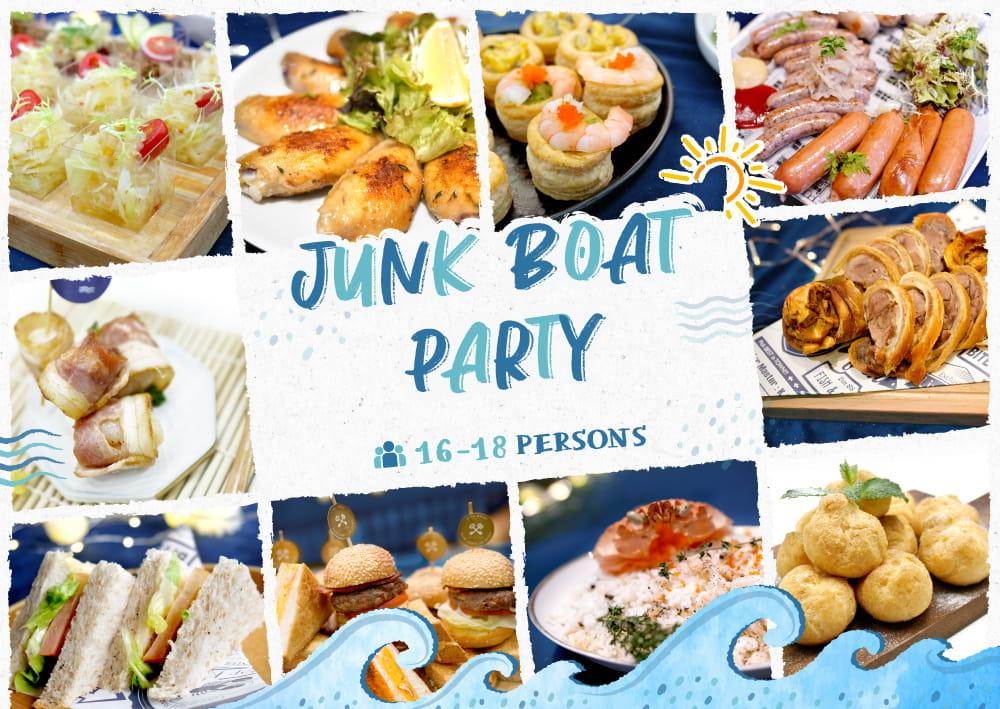 Junk Boat Party Set 食物份量適合16-18人的船P/船河到會派對享用|Kamadelivery Service