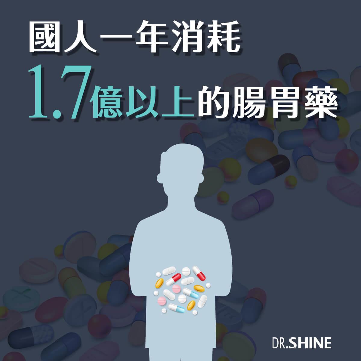 國人一年可以吞掉1.7億以上的腸胃藥