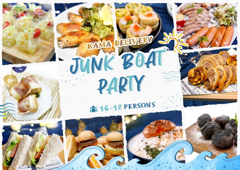 Junk Boat Party Set 食物份量適合16-18人的船P/船河到會派對享用 Kamadelivery Service