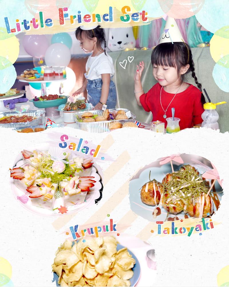 Kama Delivery推出的Little Friend Set食物份量適合7-8人的小朋友生日到會派對享用