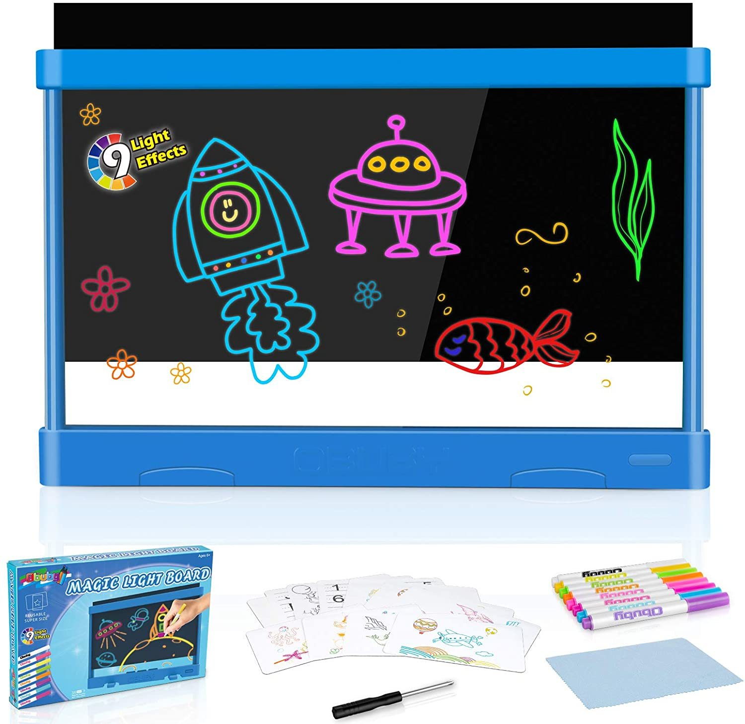 Download Obuby Kids Light Up Drawing Board Ultimate Magic Tracin