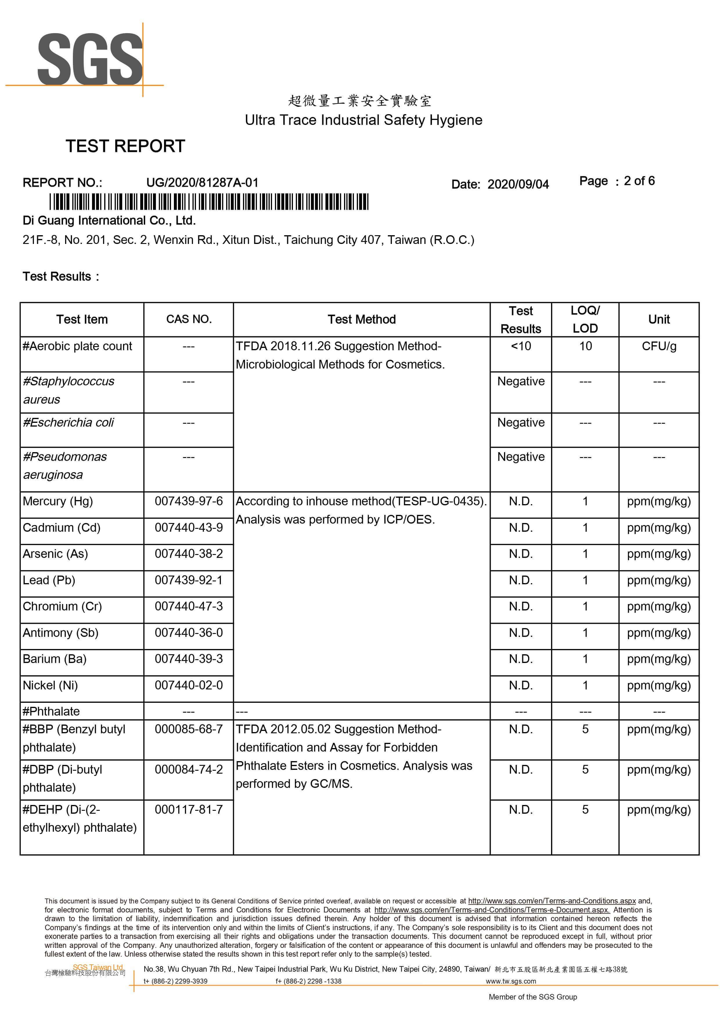 SGS Test Report No.1 p2-5