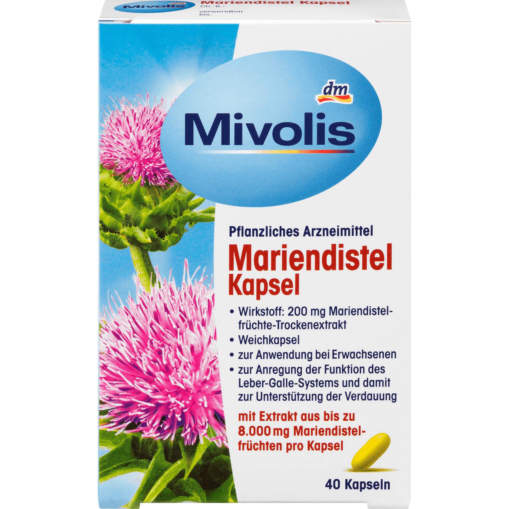 德國 Mivolis 乳薊護肝膠囊 (40粒) *