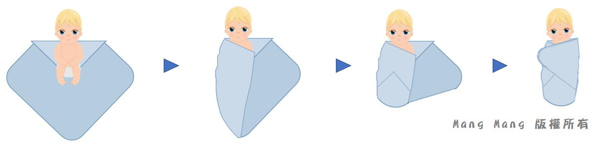 嬰兒包巾包法