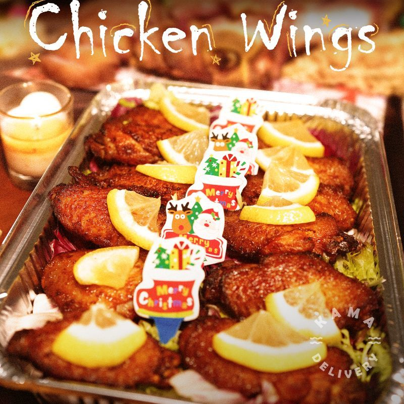 套餐小食包括焗蒜香檸蜜雞翼|聖誕大餐到會外賣餐飲服務|Kama Delivery Catering
