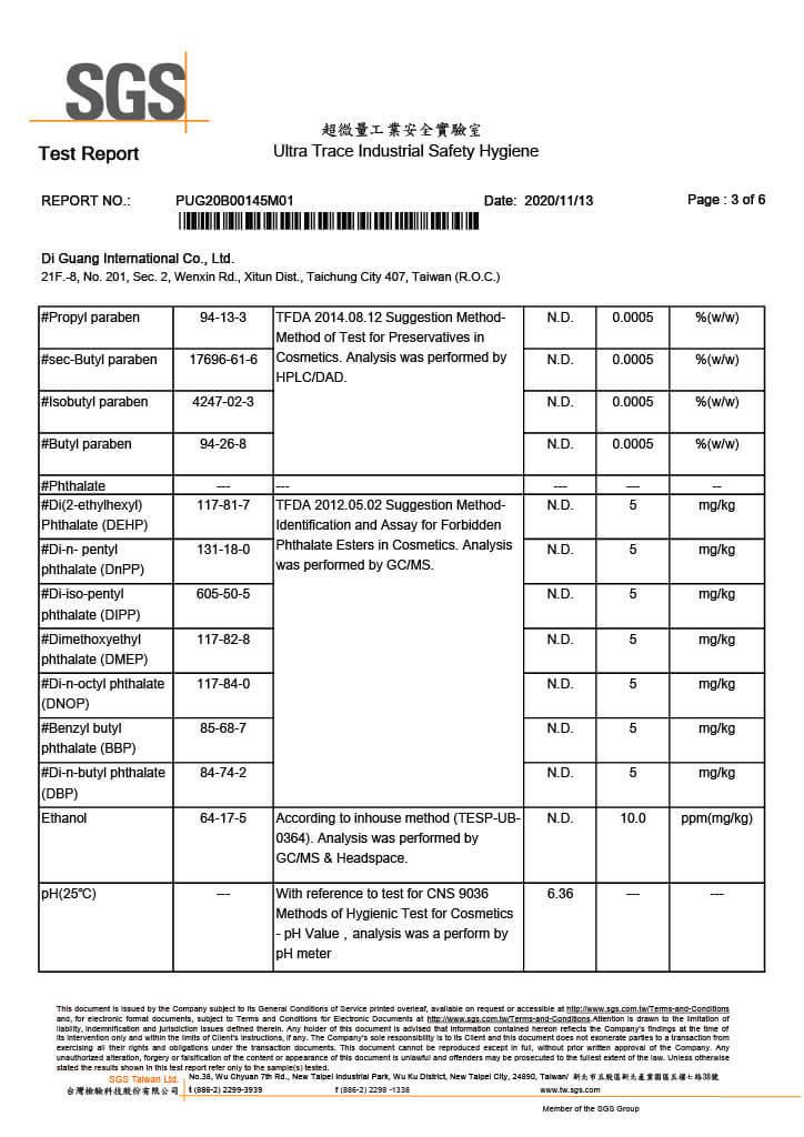 SGS Test Report No.1 p3-4