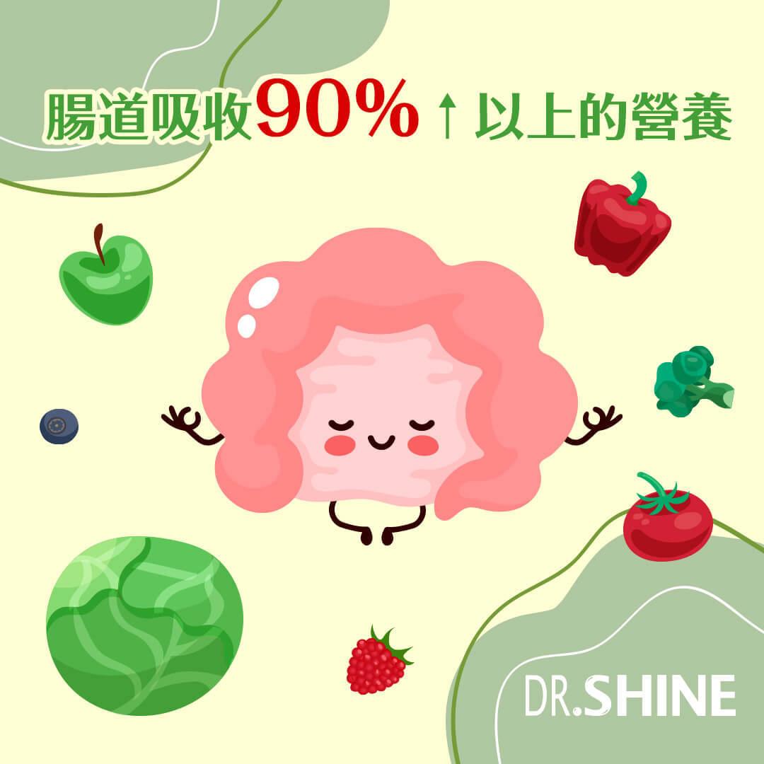 腸道吸收90%以上的營養