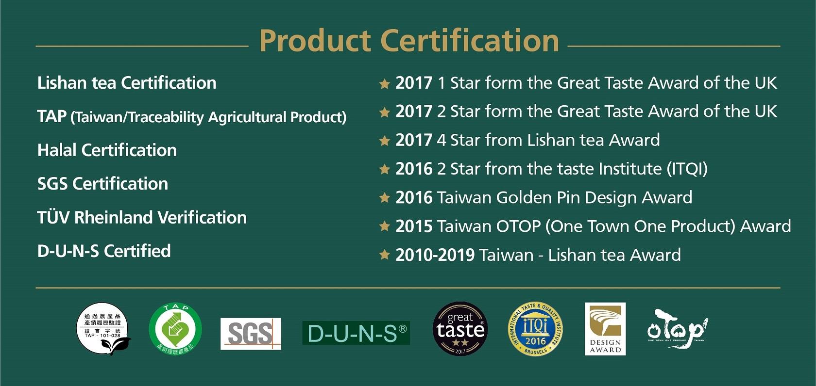 安心宣言 – 產品認證
