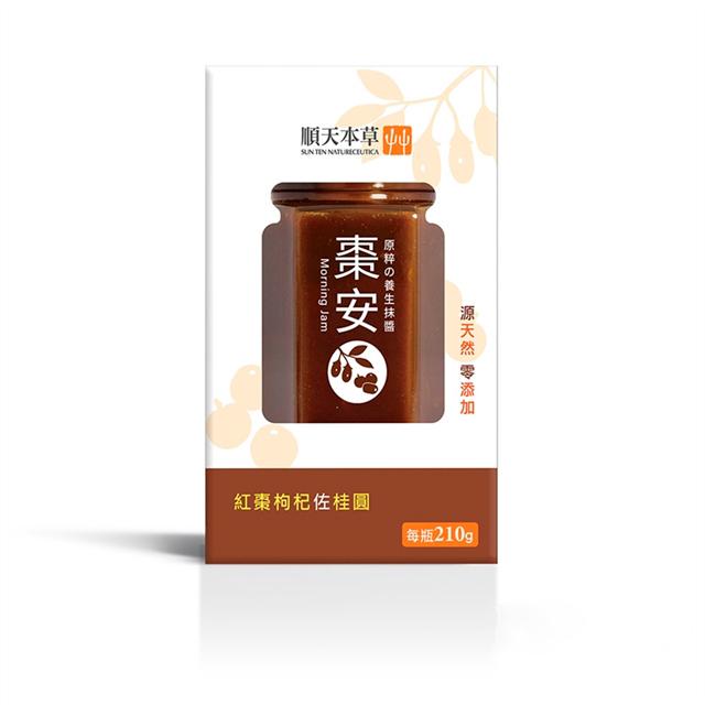 【順天本草】棗安抹醬-紅棗枸杞佐桂圓210g/瓶