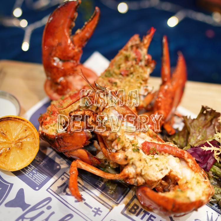 原隻烤蒜蓉牛油龍蝦|單點海鮮美食|高級到會推介|Kama Delivery Catering