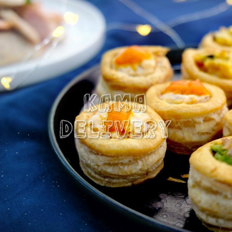 海膽忌廉汁蟹肉酥盒|單點西式小食|高級到會推介|Kama Delivery Catering