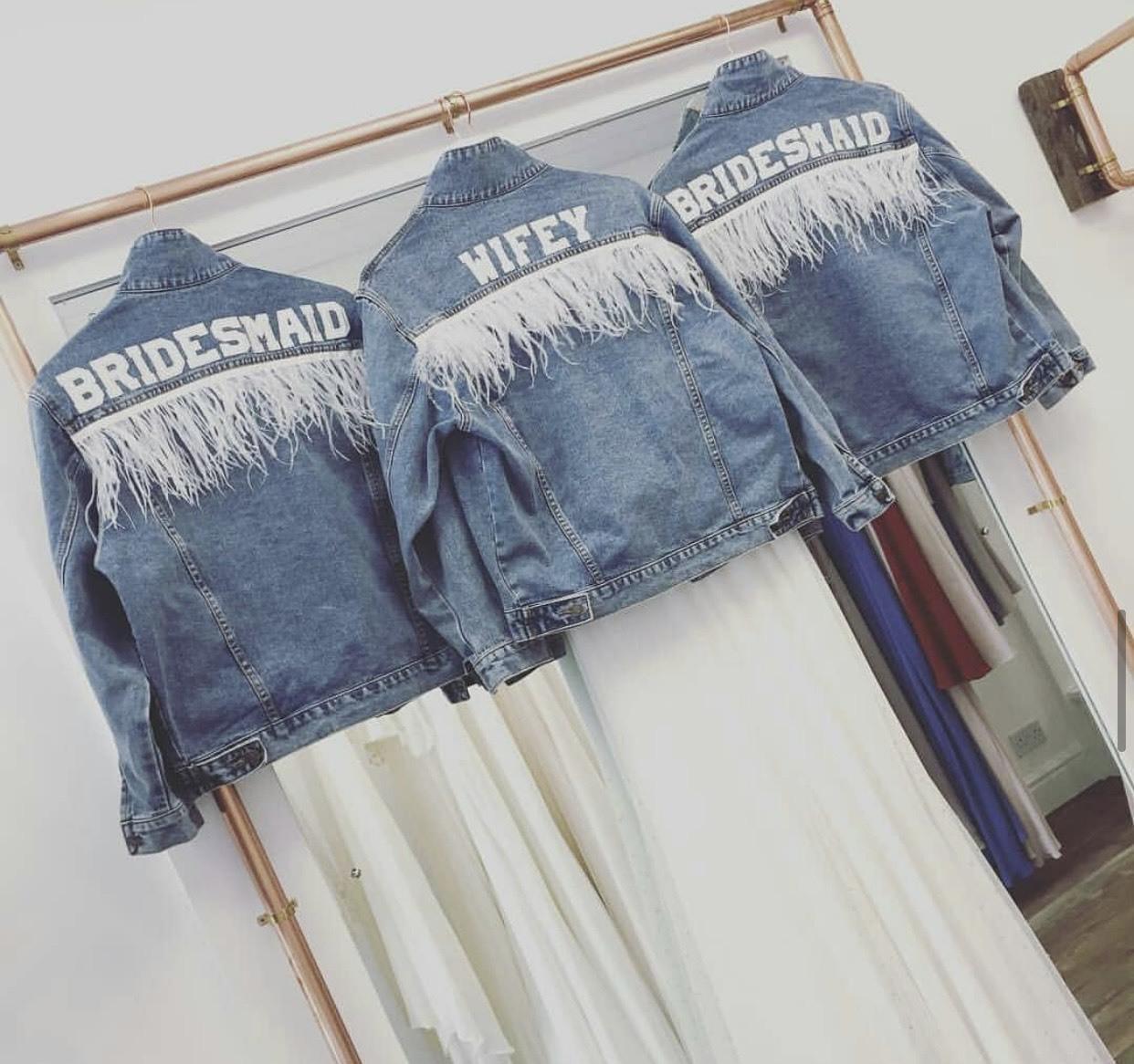 客製化衣物的伴娘禮 牛仔外套