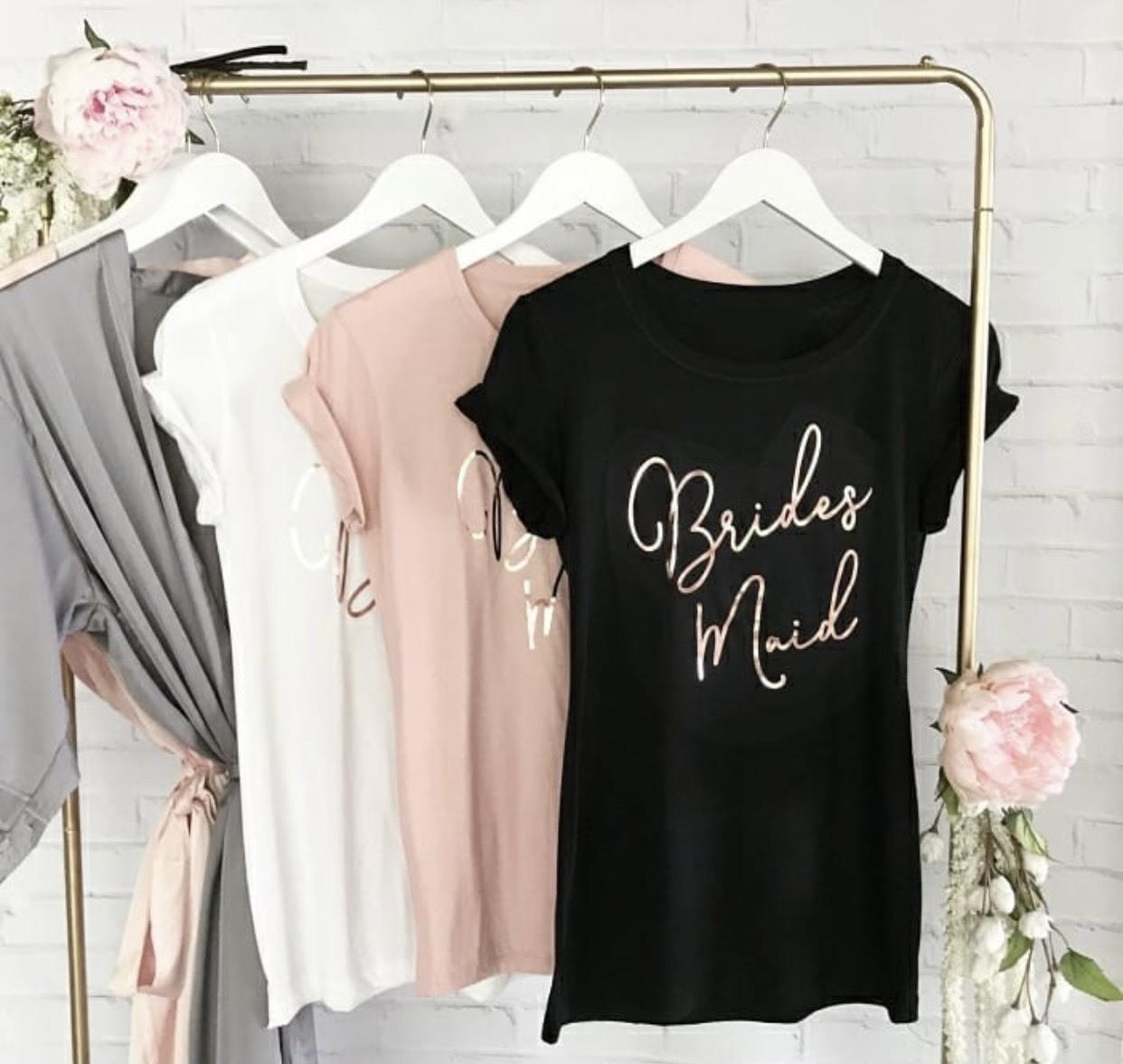 客製化衣物的伴娘禮 t-shirt