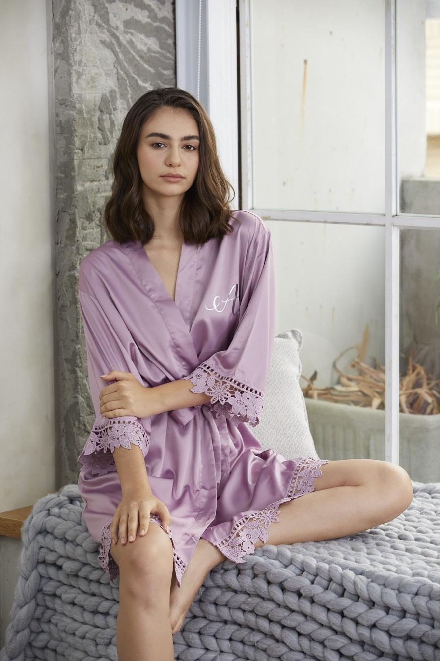 歐美伴娘禮客製化浴袍